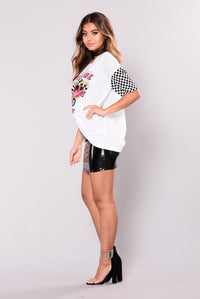 Adrenaline Rush Graphic Top - White