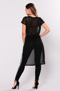 Dorete Fishnet Top - Black