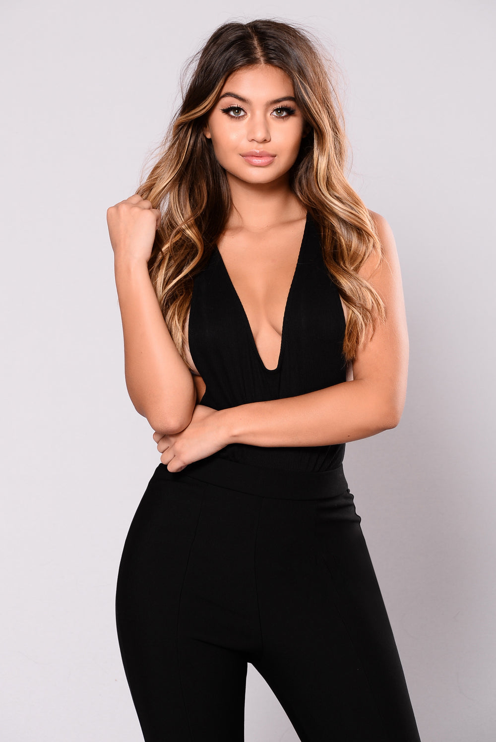 Time After Time Bodysuit - Black
