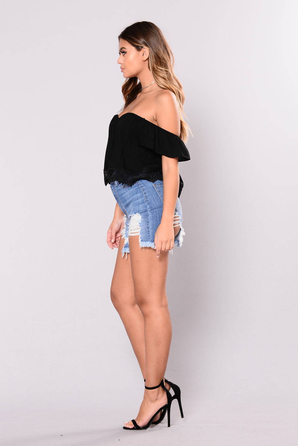 Gold Skies Top - Black