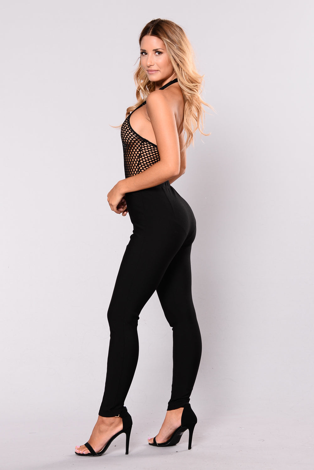 Whatever Forever Fishnet Bodysuit - Black