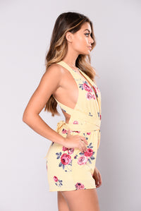 Greenhouse Flower Romper - Yellow