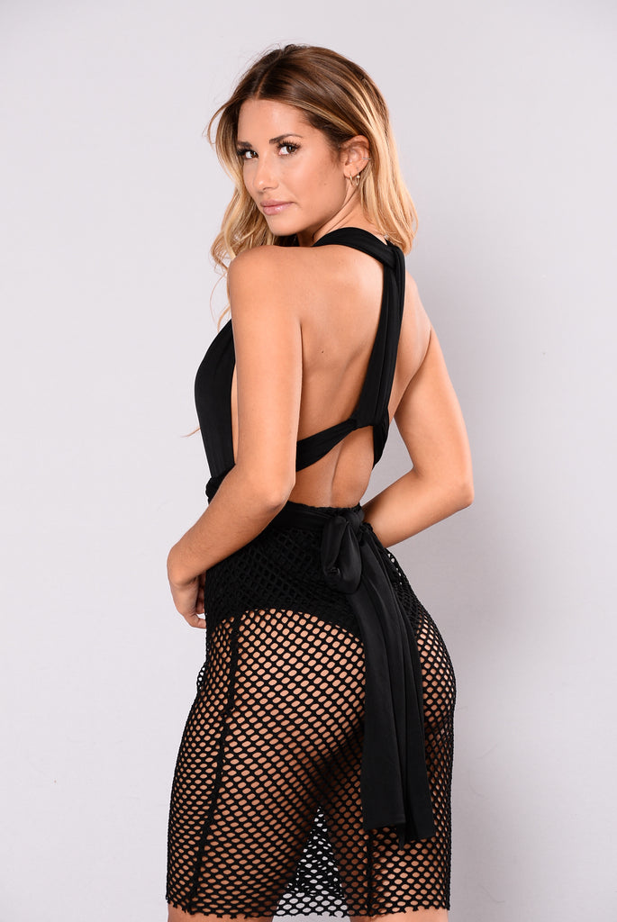 Much To Show Dress - Black