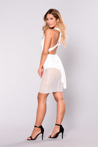 Much To Show Dress - White