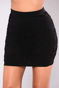 Too Busy Living Skirt - Black