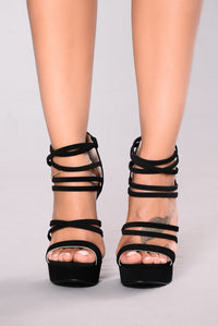 Strapped For Success Heel - Black