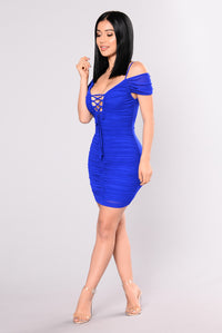 Love Bug Ruched Dress - Royal