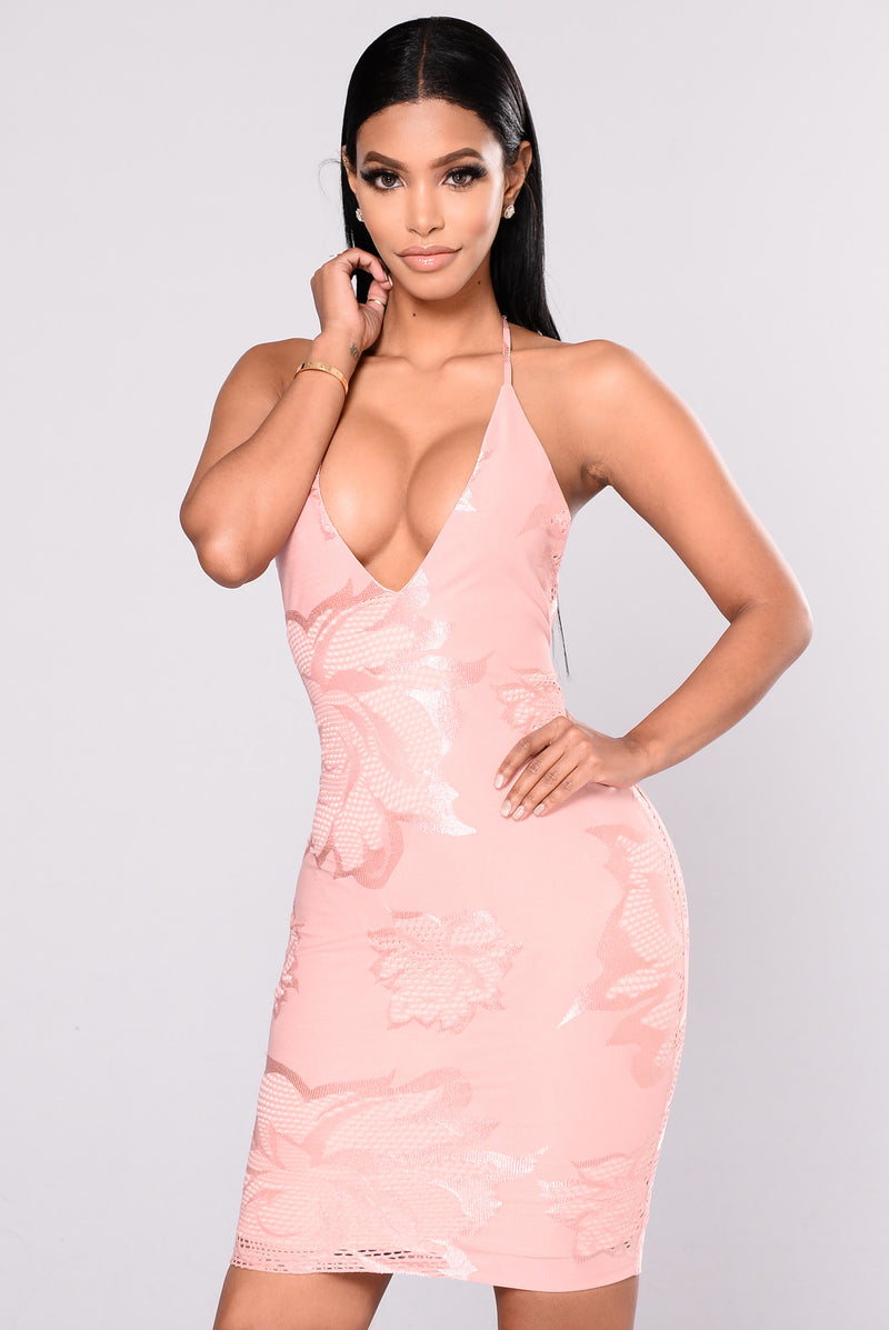 Slide Dress -Blush