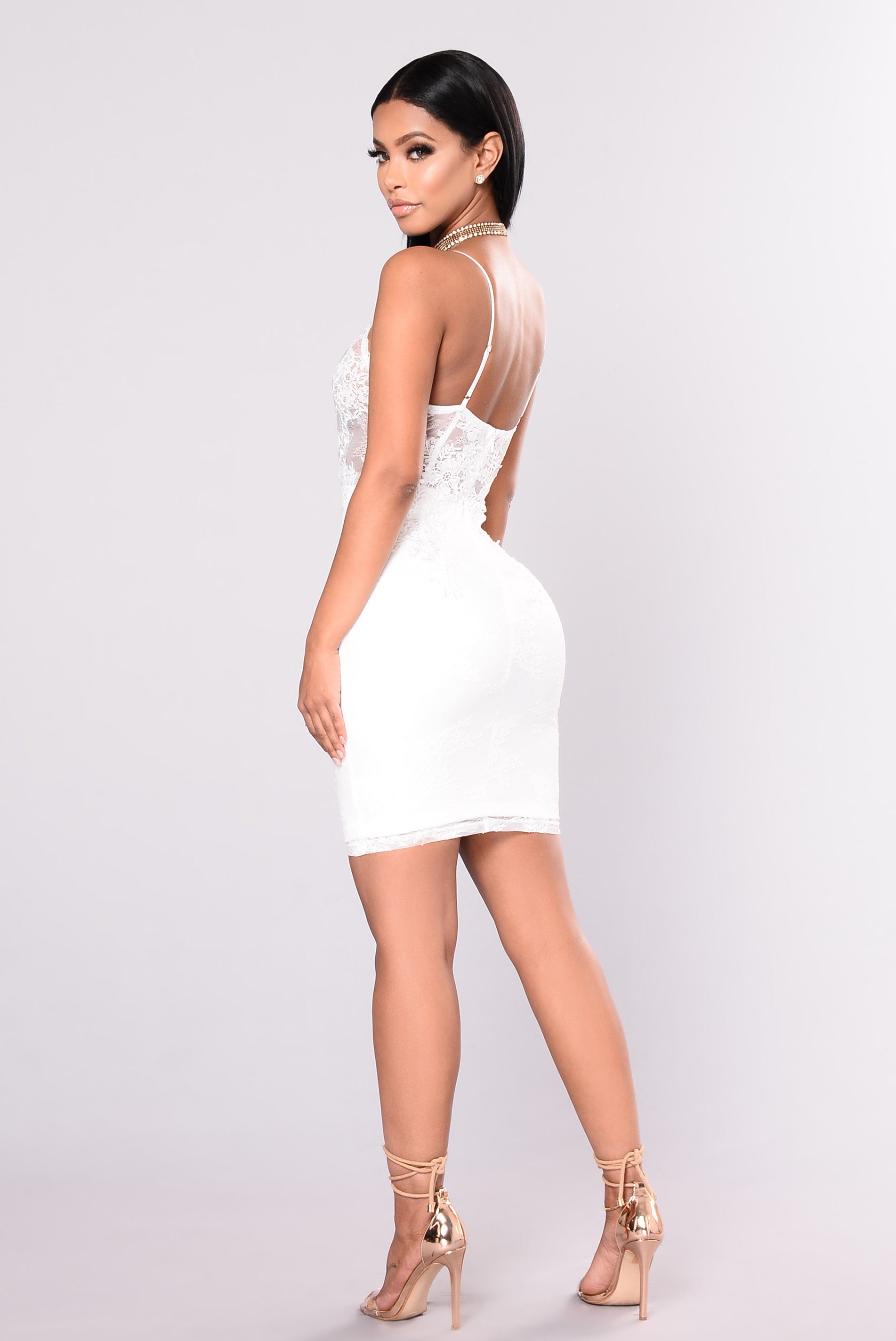 All white party dresses cocktail