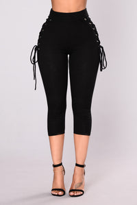 My Time To Shine Leggings - Black/Black