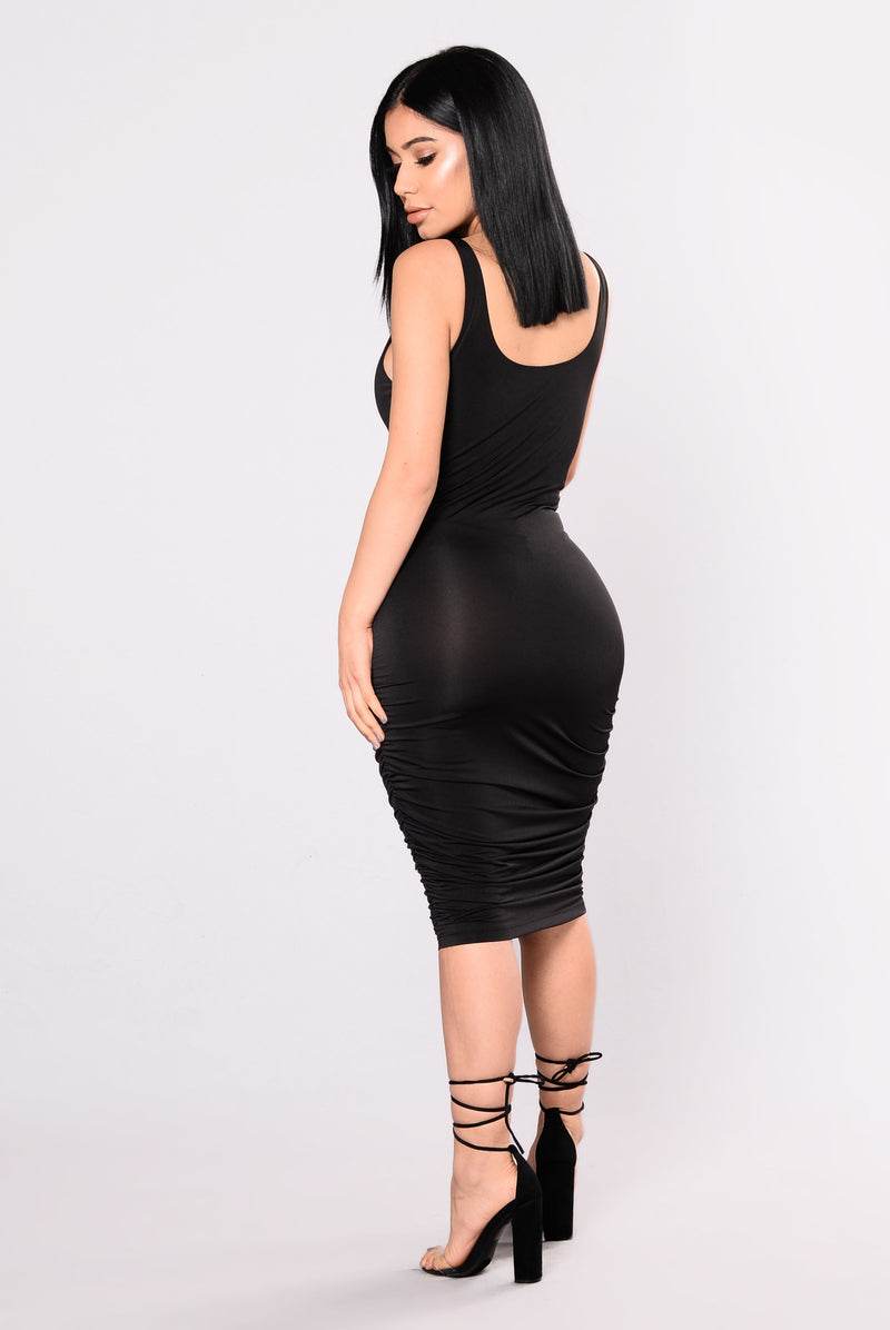 Back It Up Dress - Black