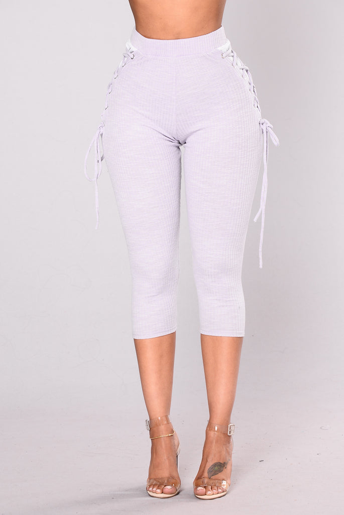 My Time To Shine Leggings - Lavender/White