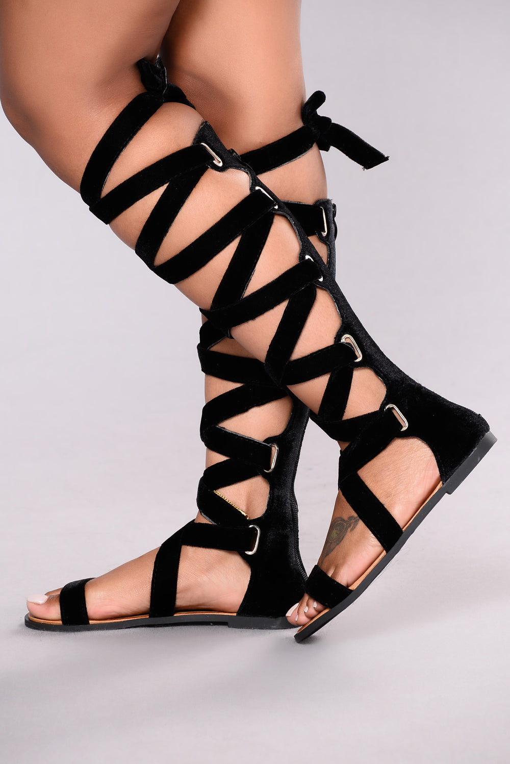 Velvet Touch Sandal - Black