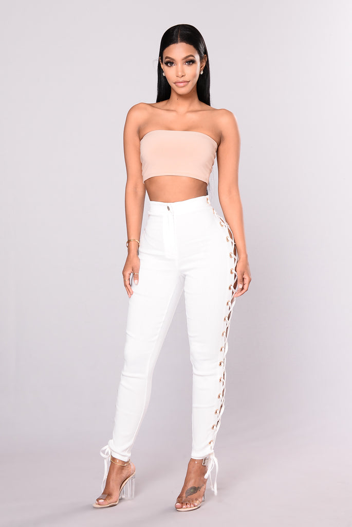 Cross My Side Pants - Ivory