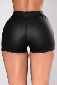 Cheryl Cutout Shorts - Black
