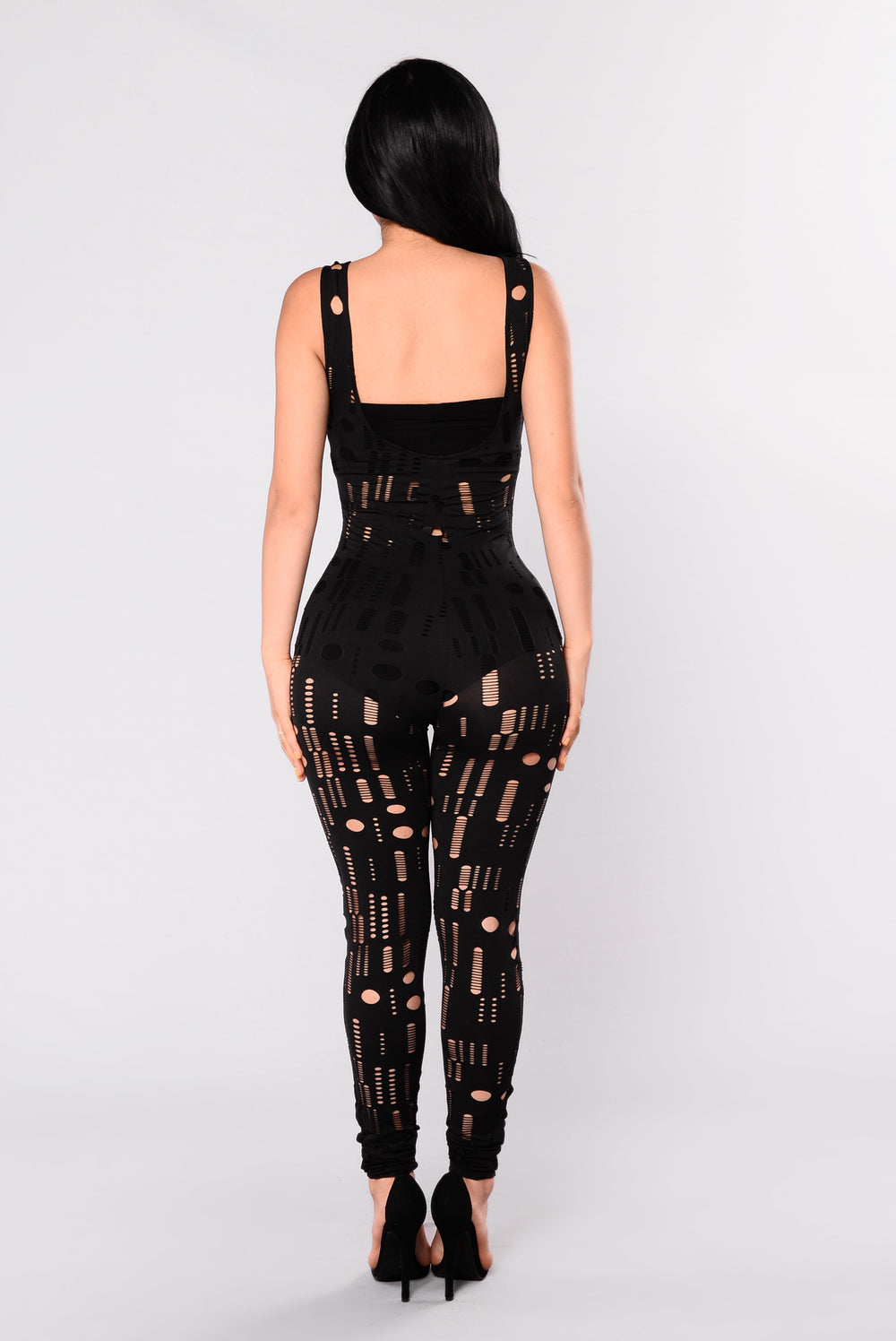 Up The Street Cutout Jumpsuit - Black
