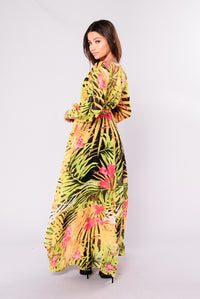 Bohemian Babe Maxi Dress - Green Multi