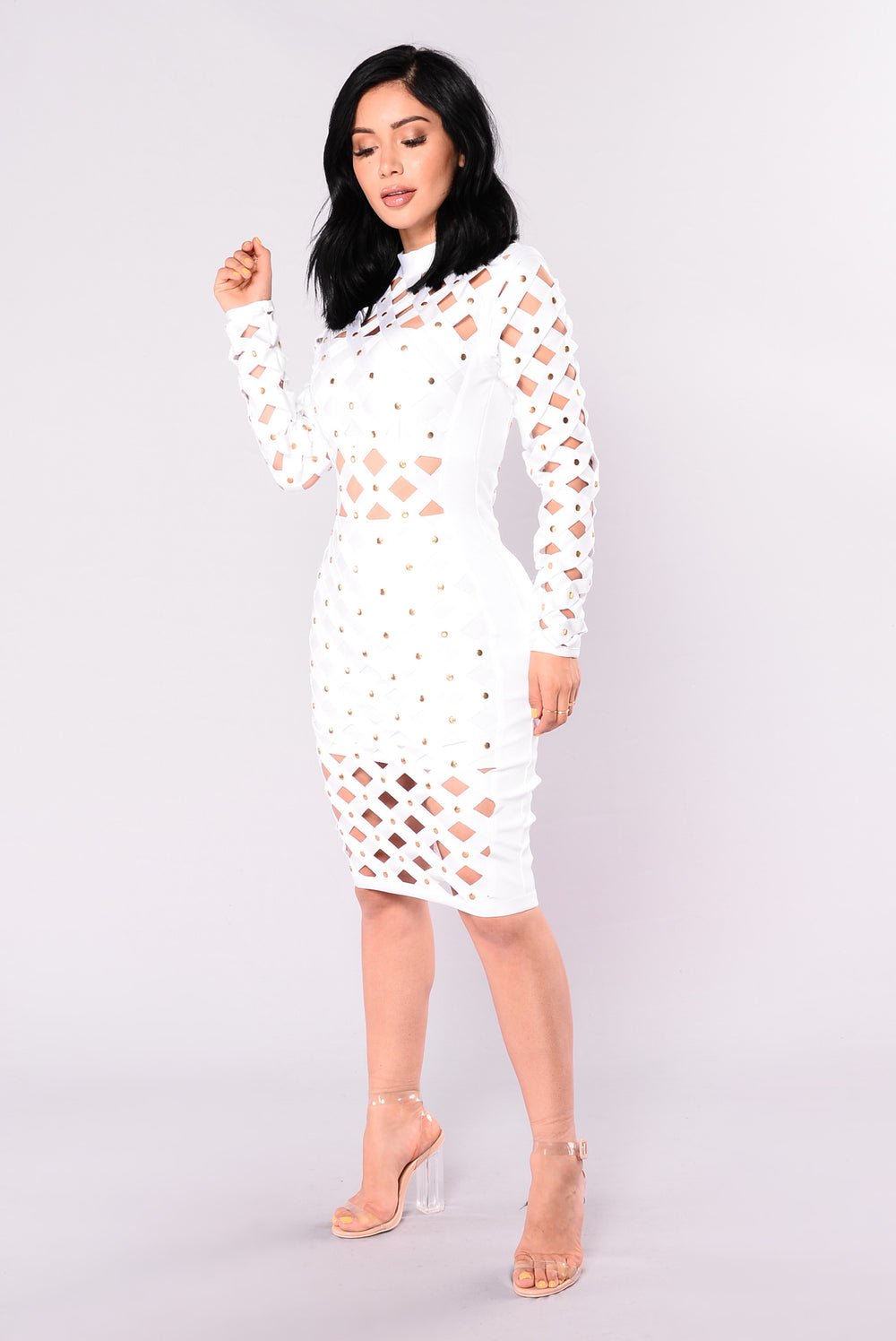 Viktoria Bandage Dress - White