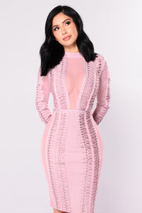 Sonya Bandage Dress - Blush