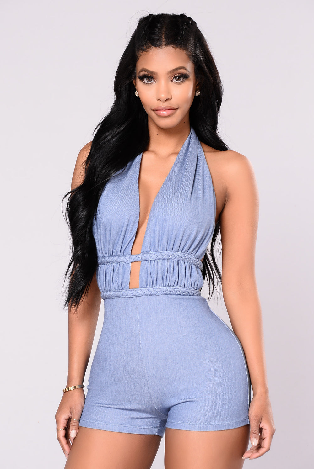 Every Way Romper - Denim Blue