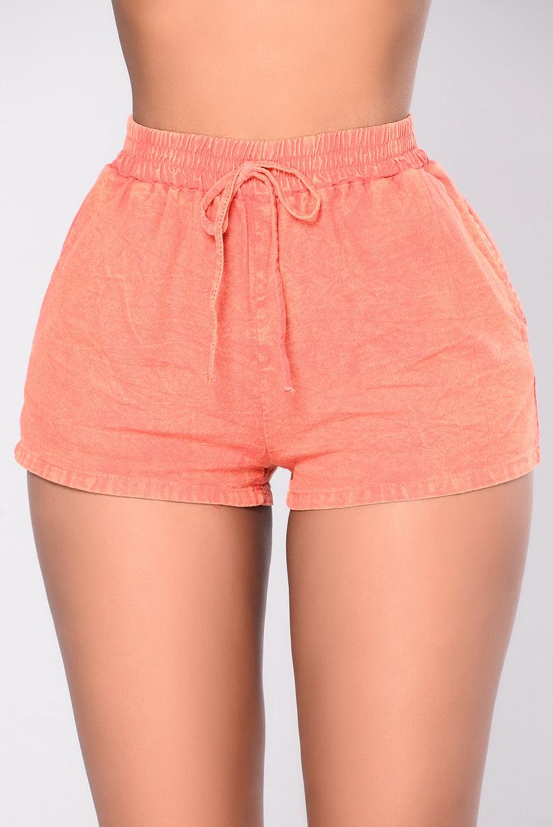 Down For Life Shorts - Orange