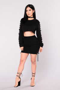 Kaira Crop Top - Black