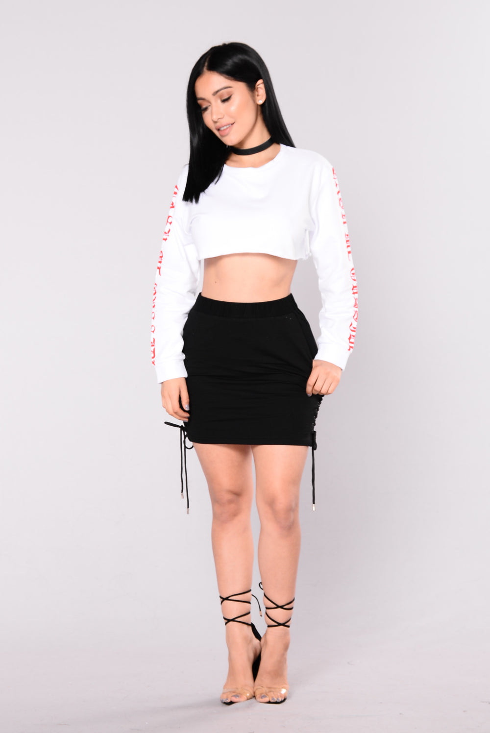 Kaira Crop Top - White