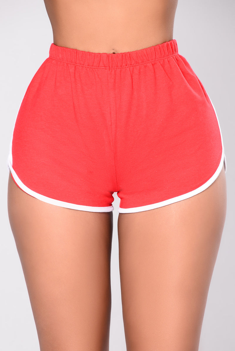 Liah Shorts - Red/White