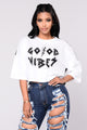 All Good Mesh Tee - White
