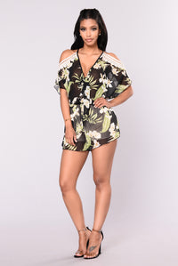 Lost In Paradise Romper - Black Angle 2