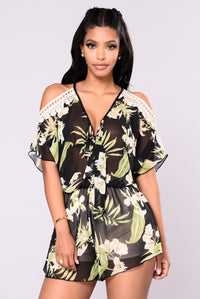 Lost In Paradise Romper - Black Angle 1