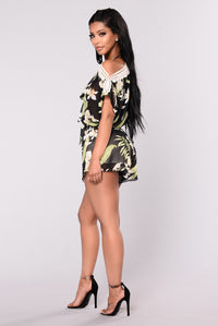 Lost In Paradise Romper - Black Angle 6