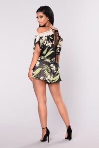 Lost In Paradise Romper - Black Angle 5