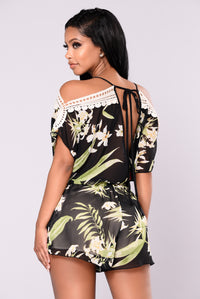 Lost In Paradise Romper - Black Angle 3