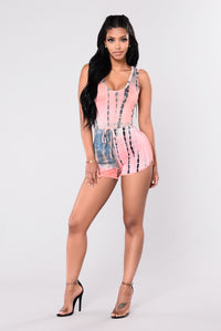 Simply Wholesome Romper - Coral