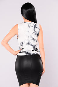 Hard Rock Tank Top - Black/White