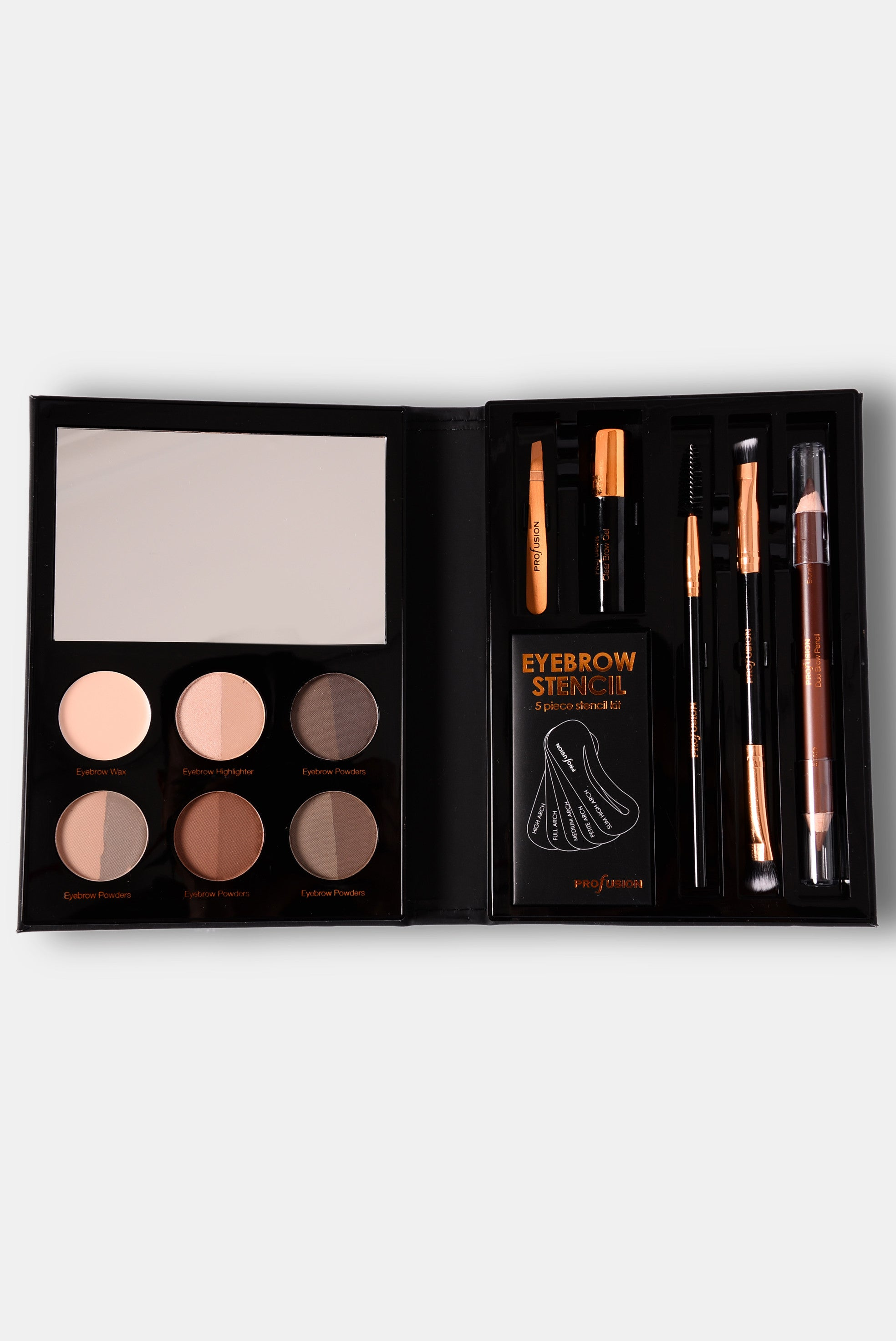Profusion Cosmetics Trendsetter Brow Palette Black