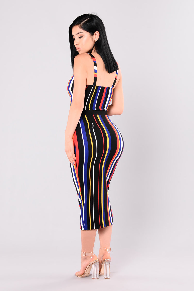 Kalea Striped Skirt - Multi