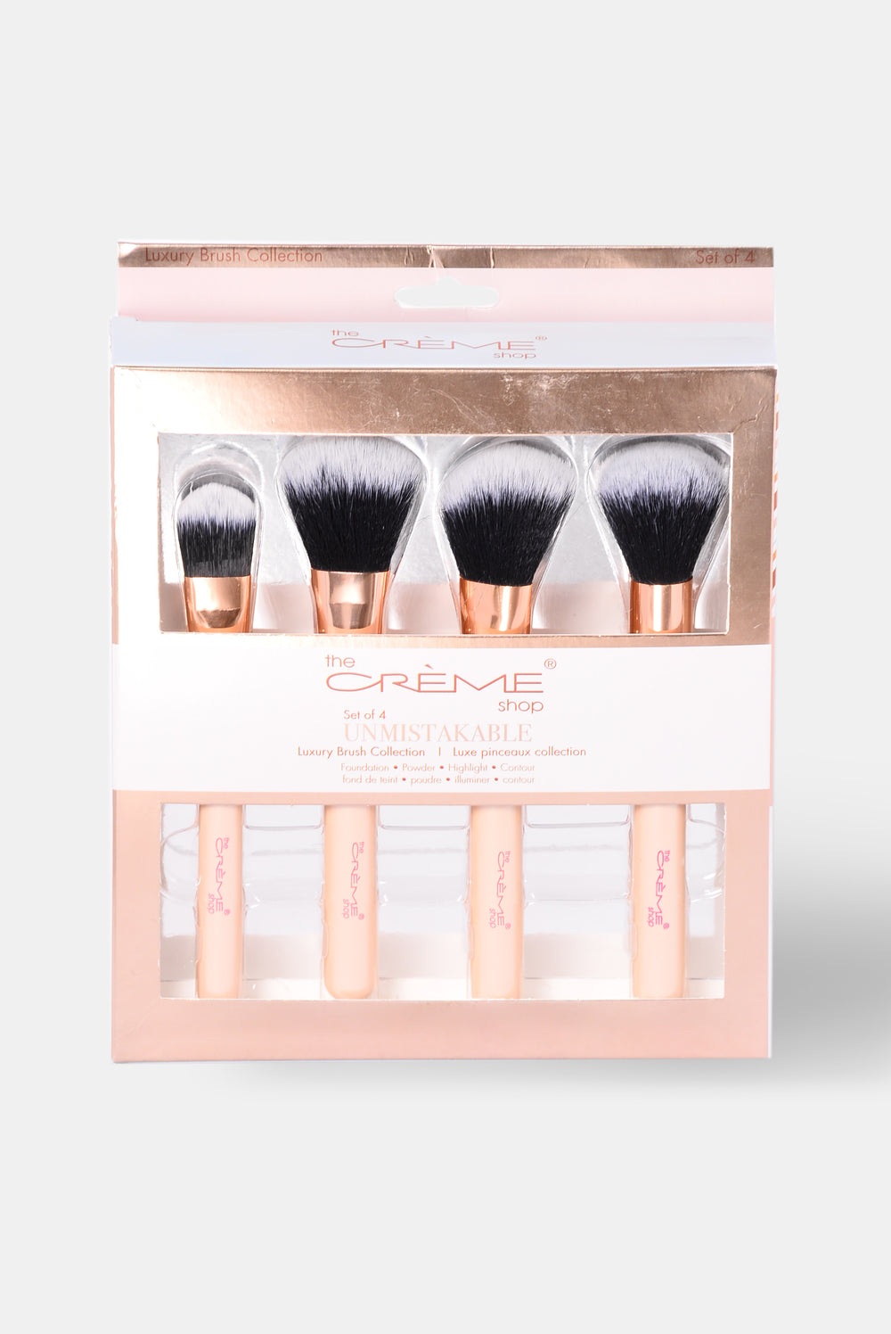 Unmistakable Luxury Four Piece Brush Set - Rose Gold
