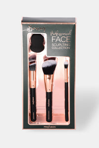 Profusion Cosmetics: Face Sculpting Brush Collection - Black