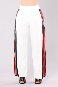 Libera Zipper Pants - White