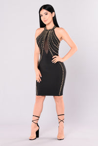 Angelina Bandage Dress - Black