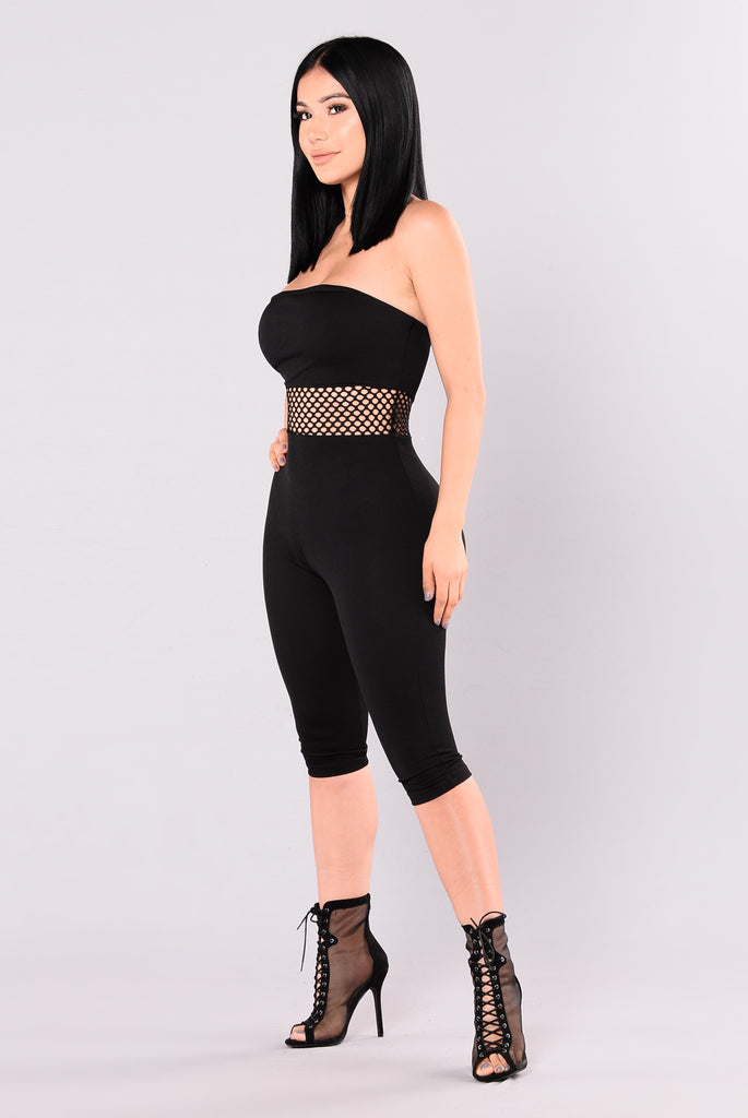 Versailles Strapless Jumpsuit - Black