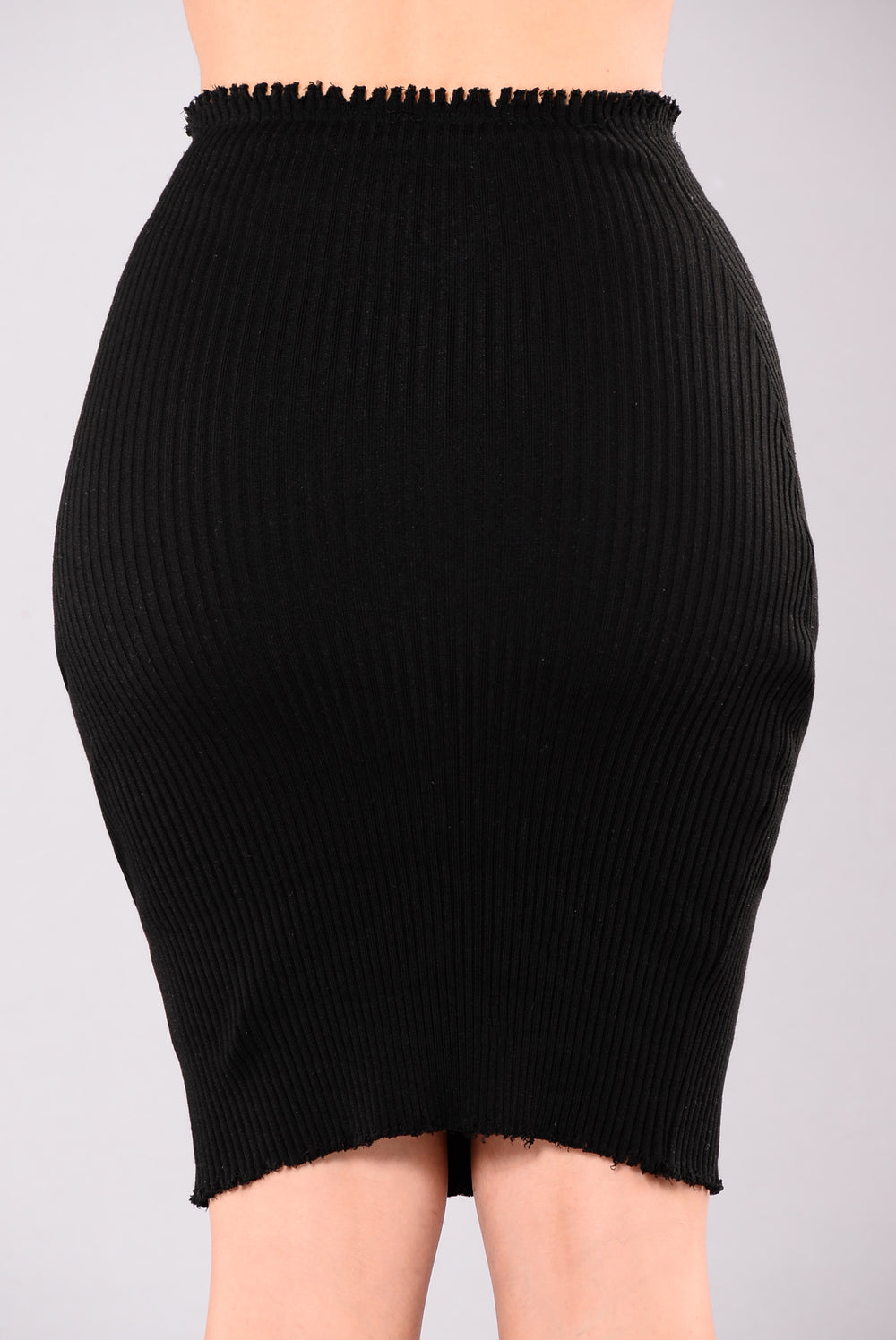 Marie Claire Ribbed Set - Black
