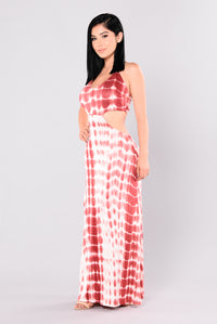 Countryside Maxi Dress - Red