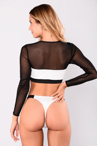 Evelina Street Mesh Set - Black/White