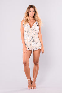 Done With Care Romper - Cream