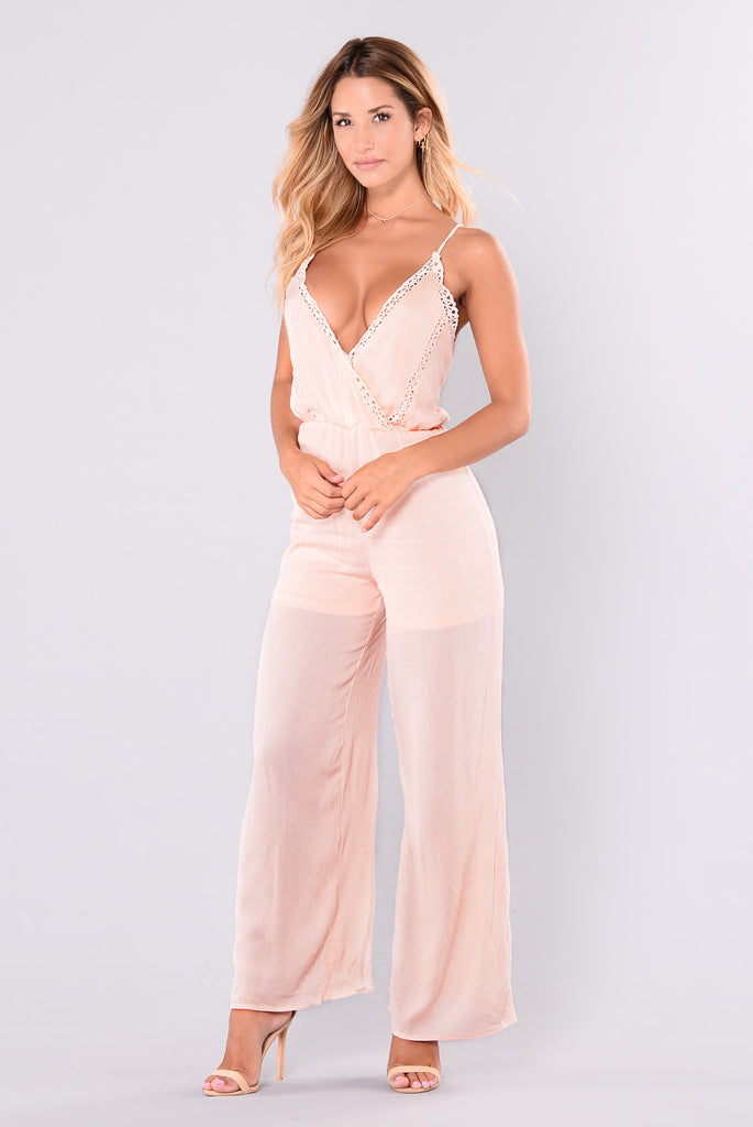 Sweetest Jumpsuit - Blush