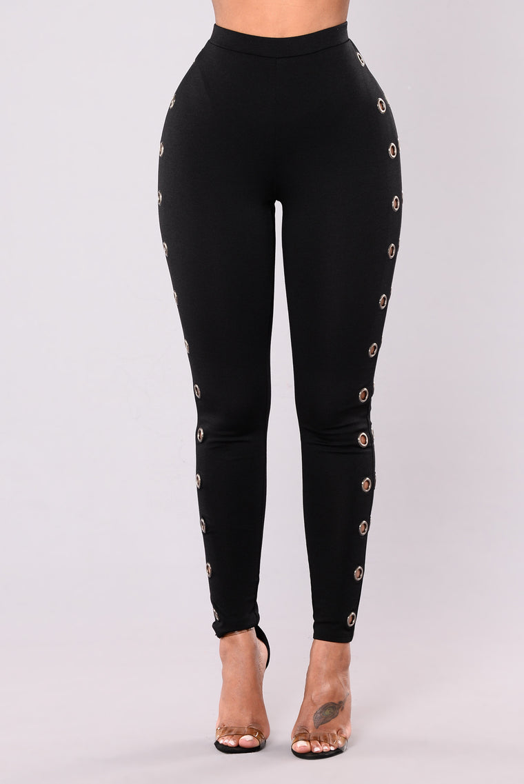 Wild Eye High Rise Pants - Black