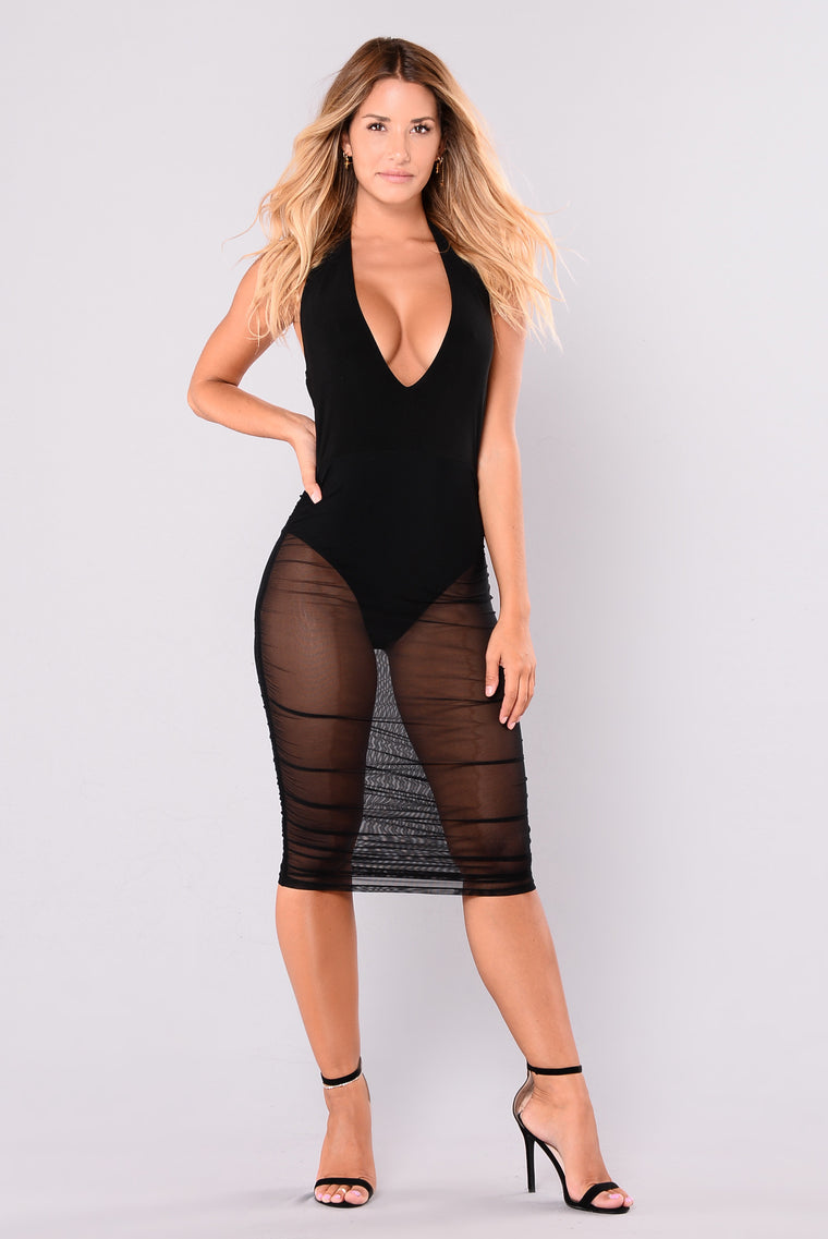 Isa Halter Dress - Black